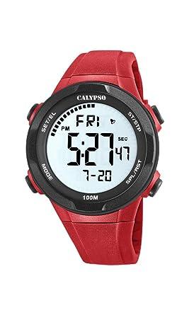 Herren Plastik Watches Digital Armband Uhr K57805 Quarz Mit Calypso YfvI7gyb6