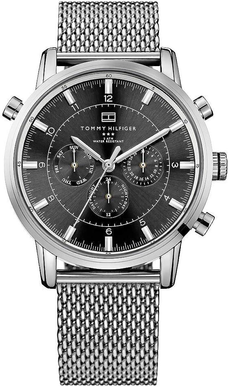 Tommy hilfiger 1790877 - orologio da polso da uomo, acciaio inox, colore: argento