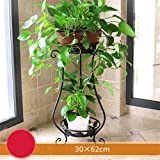 AIDELAI flower rack European Style Creative Metal Flower Racks Indoor And Outdoor Living Room Balcony Decoration 2 Layer Flower Pot Rack Patio Garden Pergolas (Color : #3)