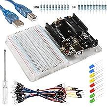 Smraza UNO R3 Board with USB Cable, Jumper Wires, Resistor Kit, LED, Breadboard for Arduino UNO R3 Mega 2560 Nano
