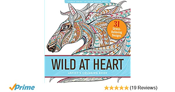 Wild At Heart Adult Coloring Book (31 stress-relieving designs ...
