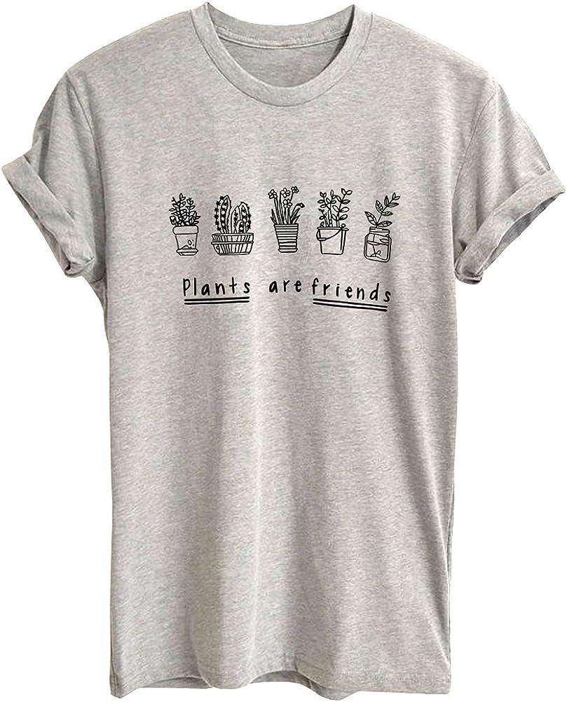 BLACKMYTH Women's Graphic Funny T Shirt Cute Tops Teen Girl Tees