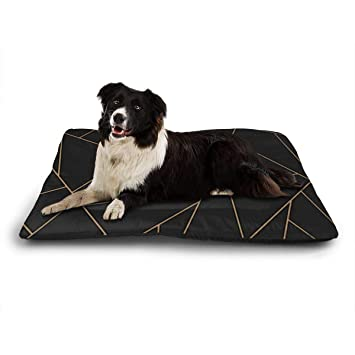 Funny Club Pet Bed Kennel Pad Mosaic Black Gold Crate Mat for Dogs ...