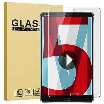 Huawei MediaPad M5 8 Protector de Pantalla, Riffue® Cristal Vidrio Templado Premium Glass con