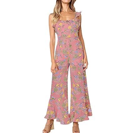 Monos Verano Mujer SUNNSEAN Pantalones Estampado de Flores ...