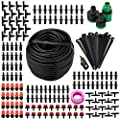 DIY Micro Irrigation Drip System, Exsart 82 Ft Blank Distribution Tubing Hose Plant Watering Irrigation Drip Kit Accessories Include Atomizing Nozzle Mister Driper, 1/4-Inch