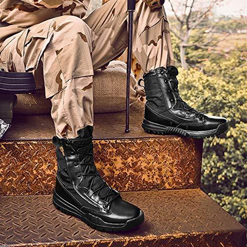 Chaussures Chelsea Résistantes À Et De Militaires Hommes Randonnée Du Pour Montantes Bottes Wegcju Désert L'usure Imperméables Black Martin Antidérapantes YRqwA6
