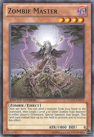 Yu-Gi-Oh! - Zombie Master (GLD5-EN019) - Gold Series: Haunted Mine - Limited Edition - Common