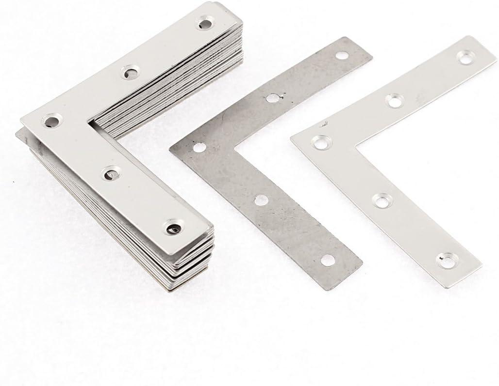 Équerre de Fixation Plaques de fixation plate en acier inoxydable Supports 4pcs