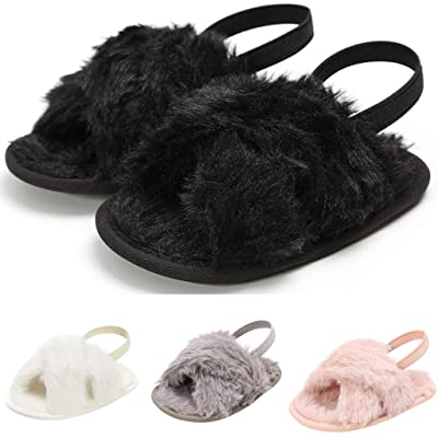 Sameno First Walking Baby Shoes 0-18 M Organic Cotton Slip On Flats with Grippers Cozy Winter Warm Gift for Newborn Baby: Clothing