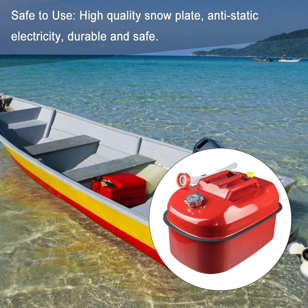 Euopat Petrol Can,5L//10L//20 Thickened Lying Gasoline Can,Portable Diesel Pot Iron Fuel Tank Car Motorcycle Spare Storage Bucket,Anti-static And Rust Resistance
