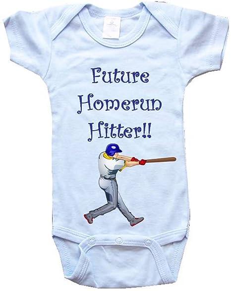 4b1fc822a FUTURE HOMERUN HITTER - Baseball Design - BigBoyMusic Baby Designs - Blue  Baby One Piece Bodysuit