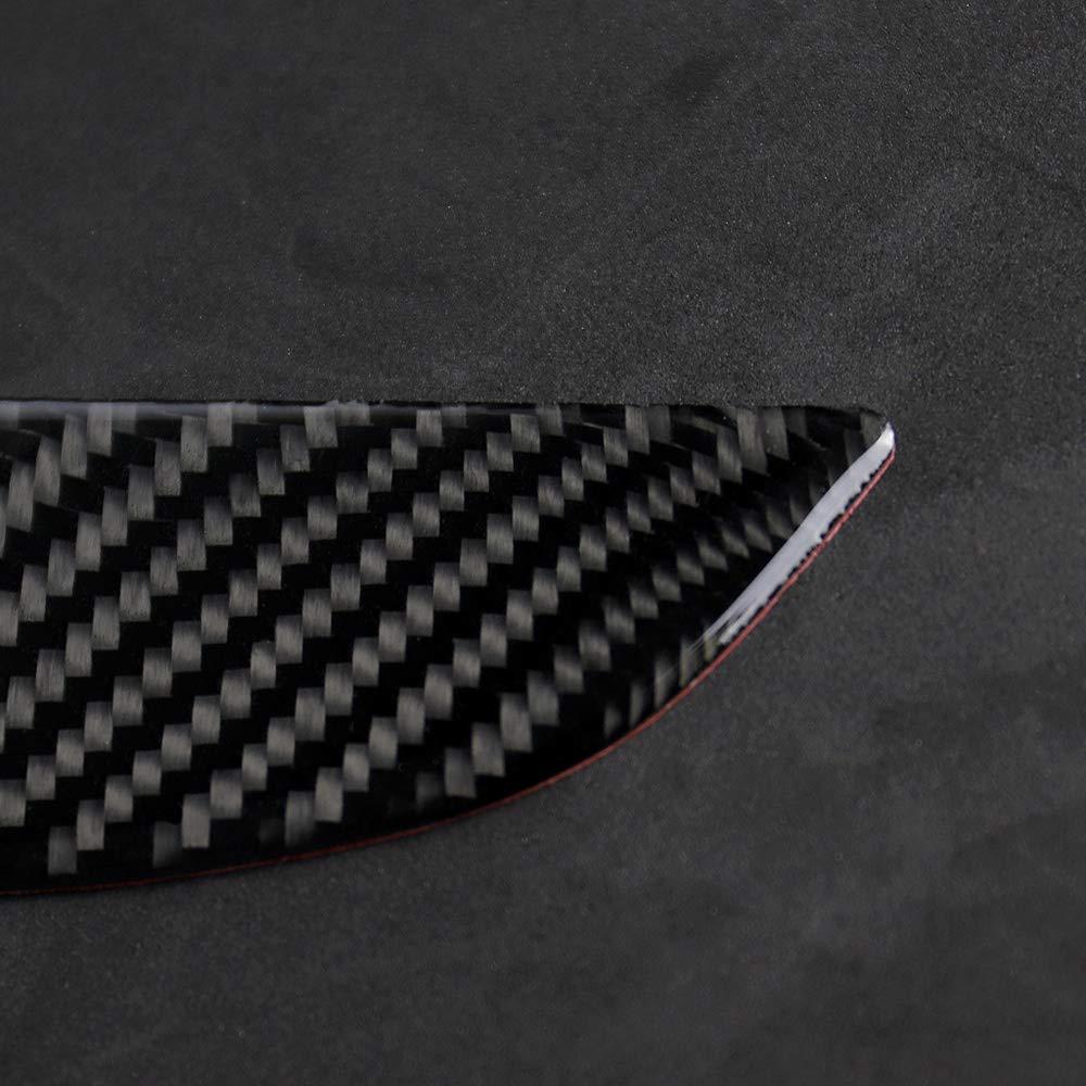 SODIAL Para Audi A4 A5 B8 Recorte de Cubierta de,Arco CD de Control de Consola de Fibra de Carbono de Coche de Reacondicionamiento Marco de Perillas de Aire Acondicionado Interior