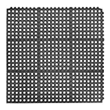 Superior Manufacturing 550S0035BL 550 Cushion-Ease Mat, 3' x 5' Size, Black