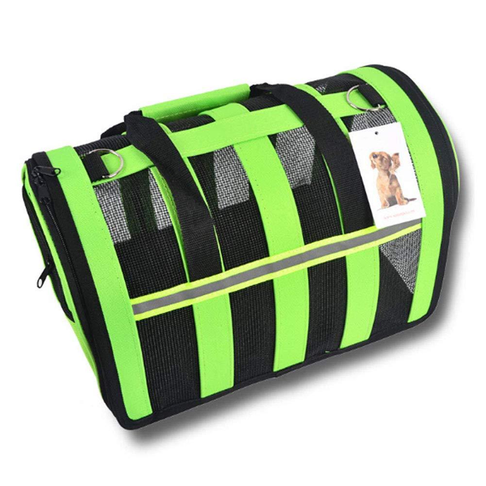 Green Large Green Large Pet Bag Pet Folding Bag Pet Supplies Cat Bag Dog Bag Out Carrying Bag Pet Travel Backpack
