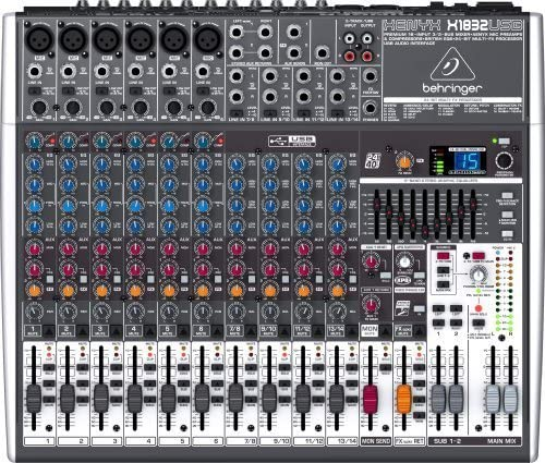 Mixer Analogico Behringer Xenyx X1832USB 18 In FX USB Out Phantom ...