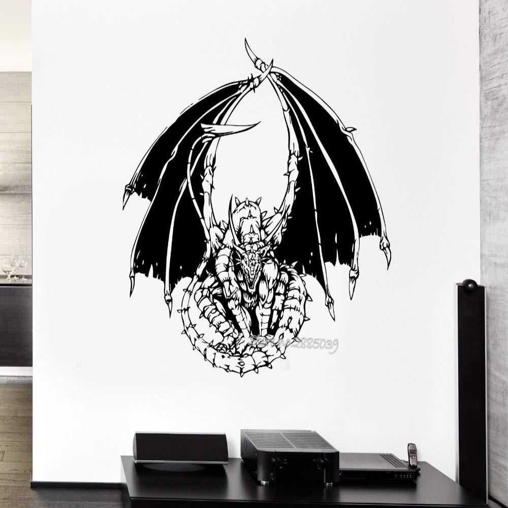 supmsds s Tatuajes de Pared Dragon Serpent Tale Monster Reptile ...