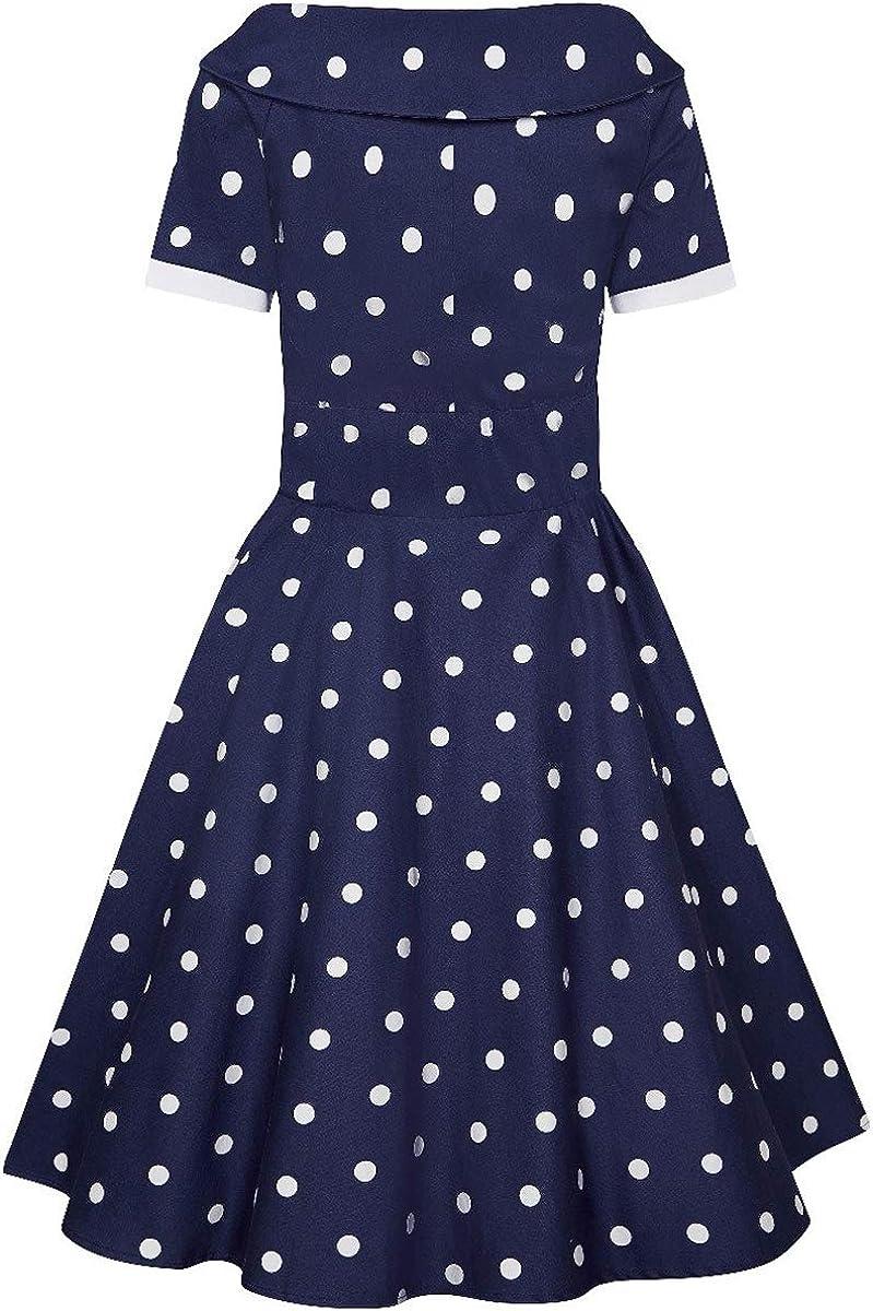 Dolly and Dotty Damen Kleid Darlene Polka Dot Carmen Dress