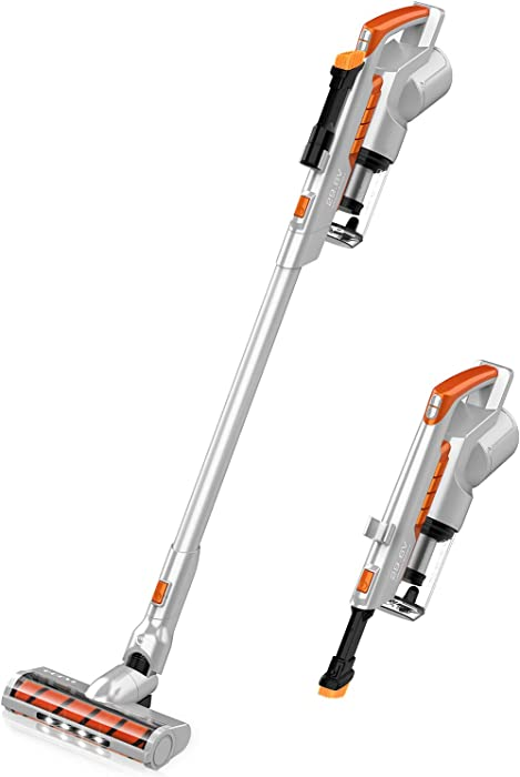 Cordless Vacuum Cleaner 16KPa Powerful Suction 200W Motor 2 in 1 Stick Handheld Vacuum for Home Hard Floor Carpet Car Pet