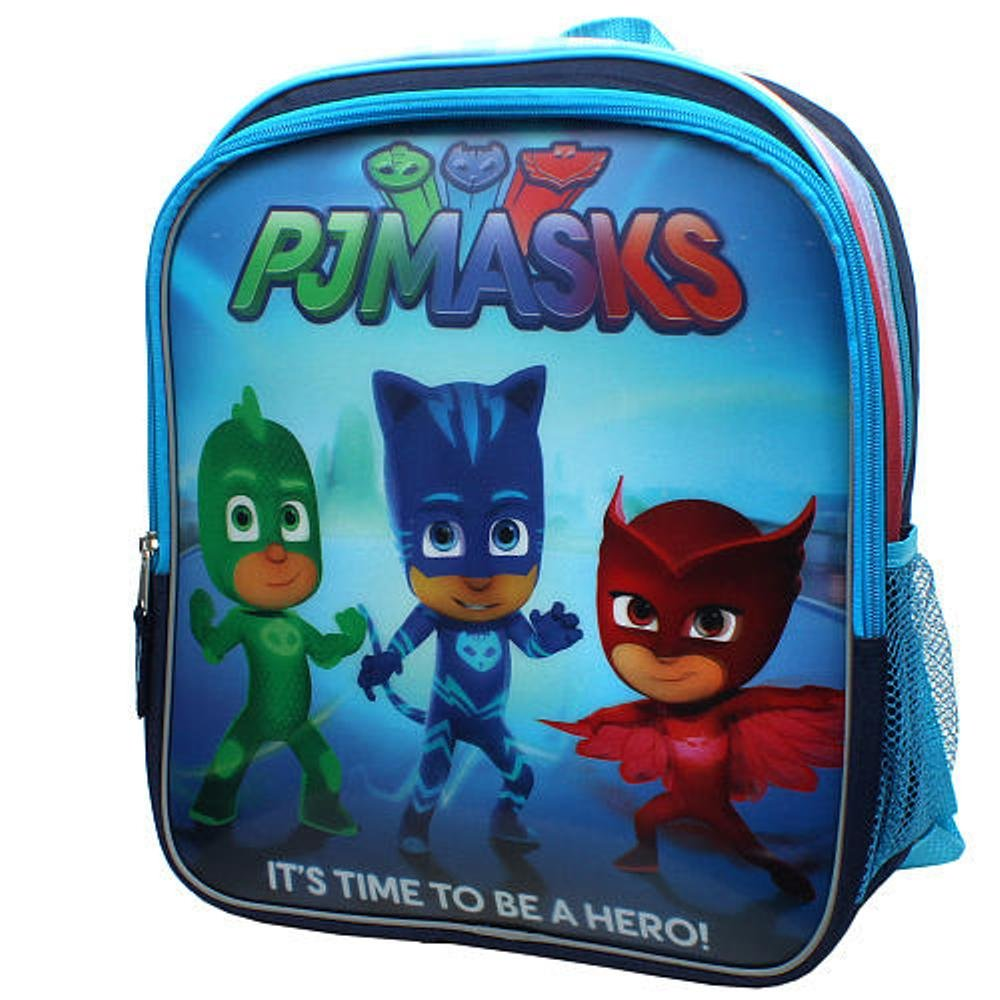 Disney Junior PJ Mask 3D Its Time To Be A Hero! 14 inch Backpack & Lunch Bag by Disney: Amazon.es: Hogar