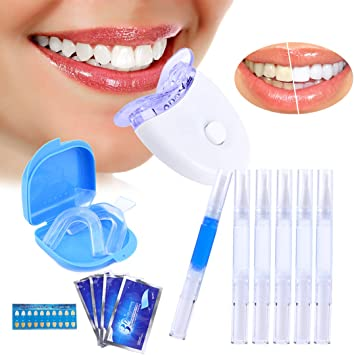 Blanqueamiento dental kit gel, Kit de Blanqueamiento Dental, profesional blanqueamiento dental altamente efectivo para dientes blancos brillantes como el dentista: Amazon.es: Salud y cuidado personal