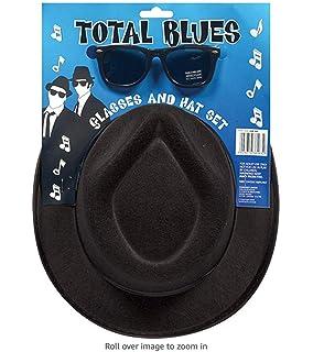 Men/'s Ska Two Tone Hat Braces Tie Glasses Instant Kit Olly Murs Fancy Dress Stag
