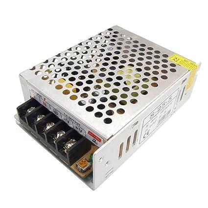 Amazon.com: IIVVERR AC 110V/220V to DC 5V 5A 25W LED Light ...