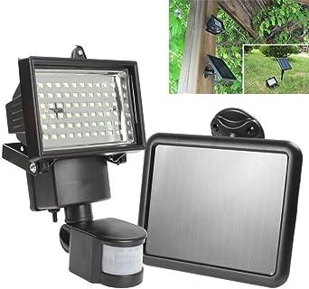 Foco LED Panel solar de Seguridad de emergencia Solar jardín lámpara de pared Iluminación exterior: Amazon.es: Iluminación