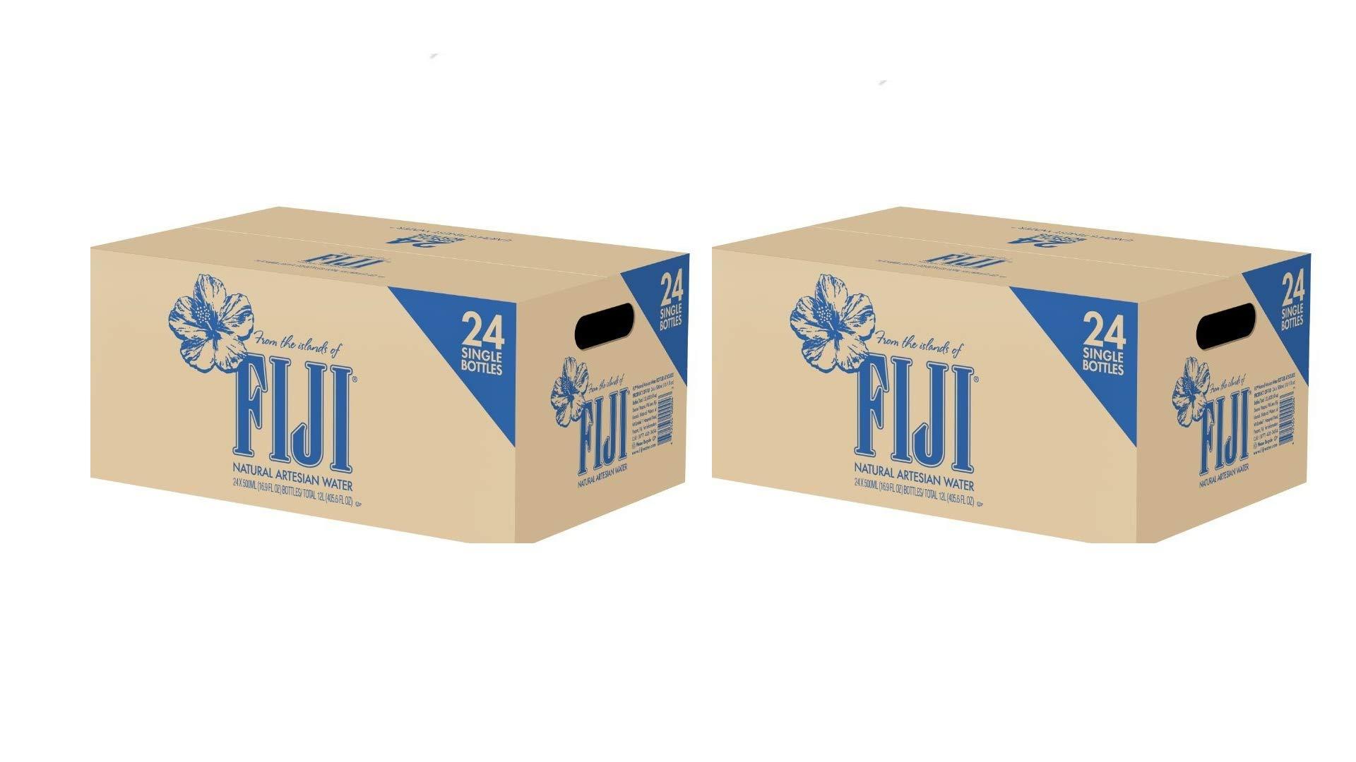 Fiji Natural Artesian Water, 16.9 Fl Oz Pack of 24-2 Box