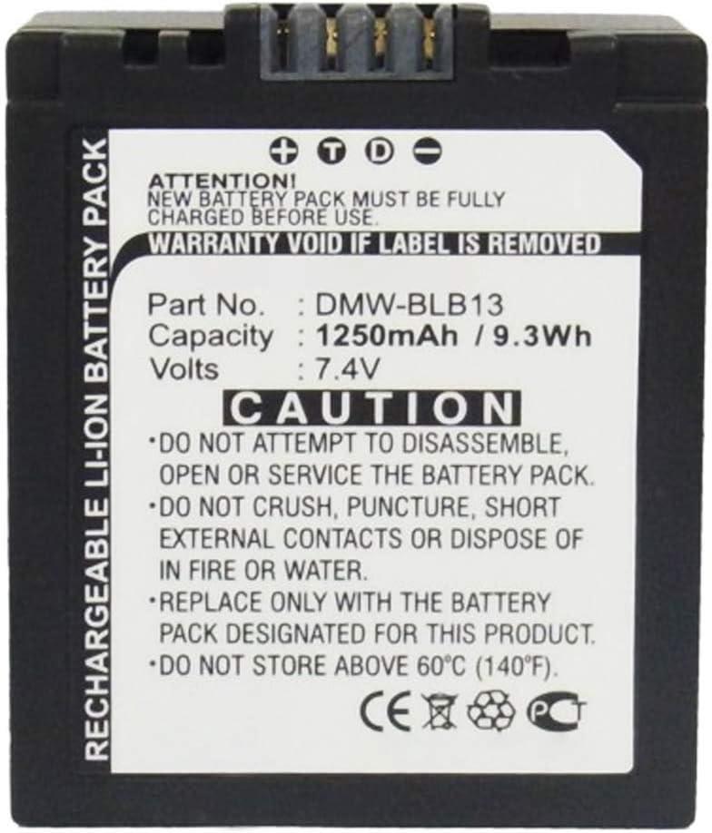 sustituci/ón 1250mAh DMC-GF1 DMC-GH1 DMC-G1 Pila reemplazo CELLONIC/® Bater/ía Premium Compatible con Panasonic Lumix DMC-G10 DMW-BLB13,-BLB13E,-BLB13GK,-BLB13PP bateria de Repuesto DMC-G2