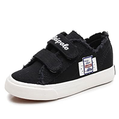 dda7f40c11 Fashion Sneakers Classic Casual Canvas Shoes for Boys Girls -(Black 32 1 M