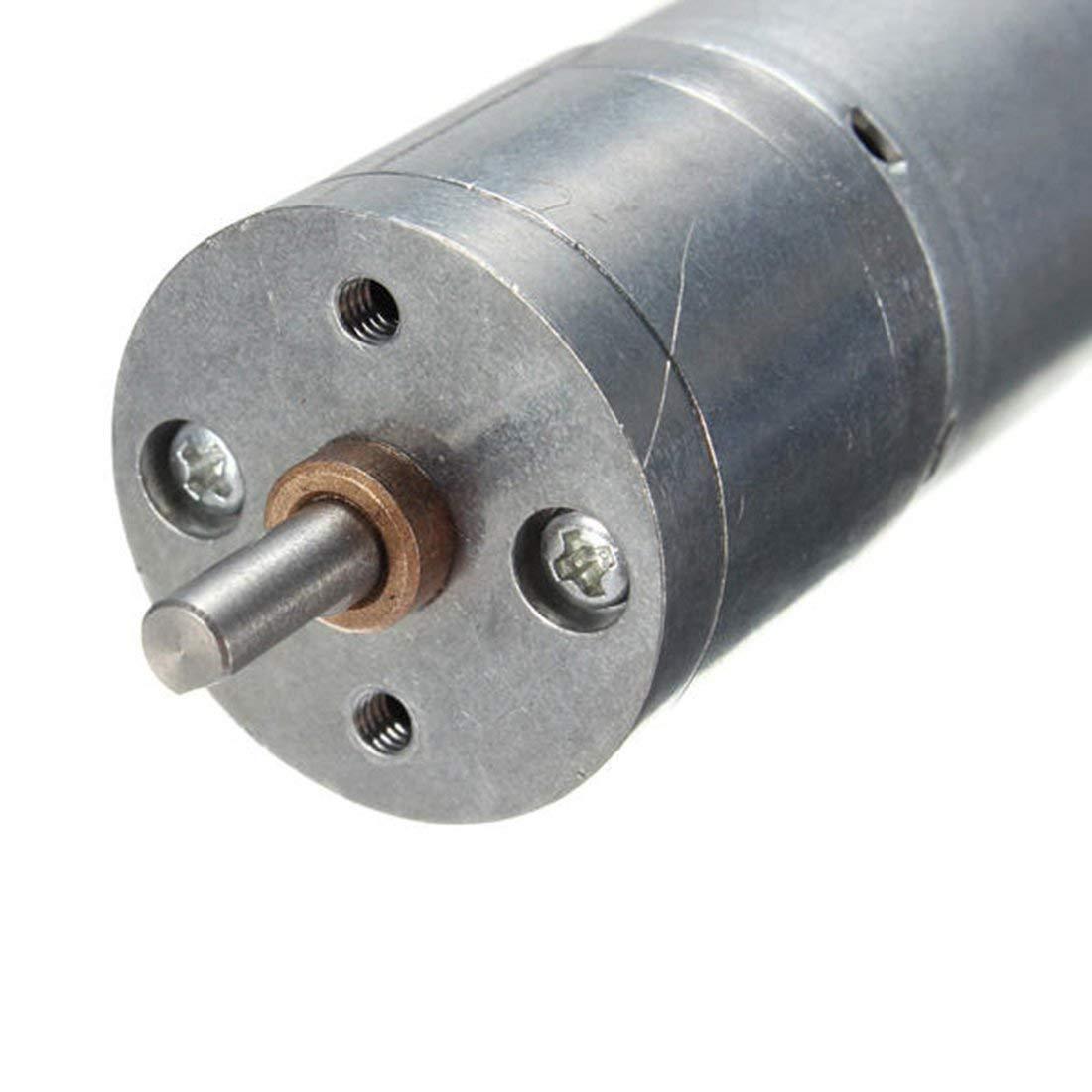 Motor reductor de engranaje 25ga370 Dc Motor de alto torque y velocidad lenta Motor 3v6v12v24v-Silver