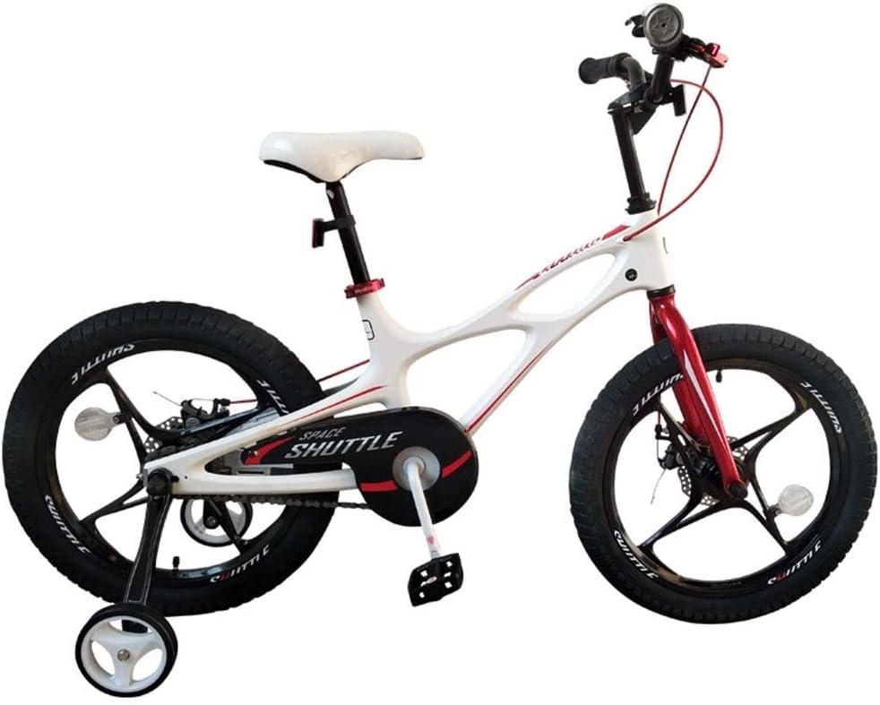 Bicicletas infantiles y accesorios Bicicleta para Niños Niños Cochecito Ligero Niños Niñas Bicicleta 3-10 Años Bicicleta De Aleación De Magnesio Bicicleta (Color : Blanco, Size : 14 Inch)