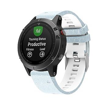 Para Garmin Fenix 5 reloj GPS banda de repuesto de camuflaje, Y56 Printing Silicagel Quick