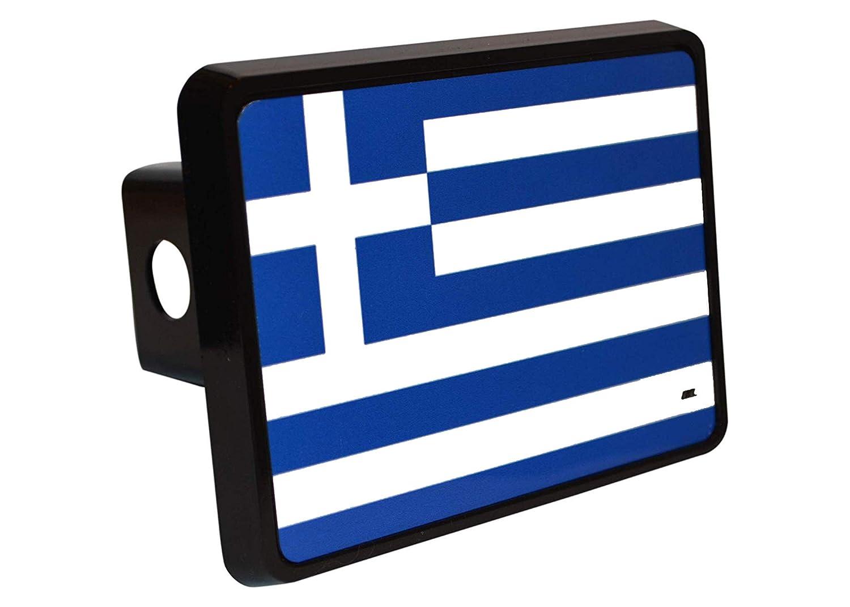 Rogue River Tactical Greek Greece Flag Trailer Hitch Cover Plug Gift Idea VV710