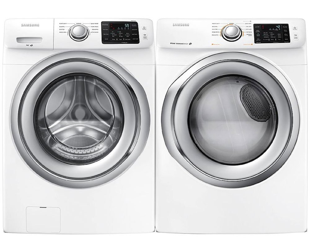 samsung front load washer. amazon.com: samsung appliance white front load laundry pair with wf42h5200aw 27\ washer -