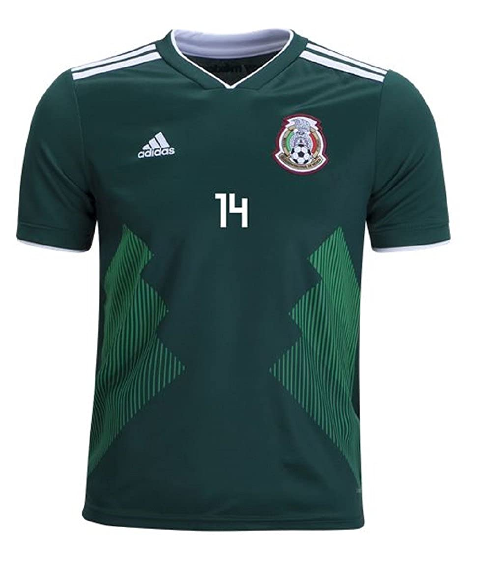 86be736ac Amazon.com  adidas Mexico Home Youth Chicharito Jersey 2018 2019 (Official  Printing)  Clothing