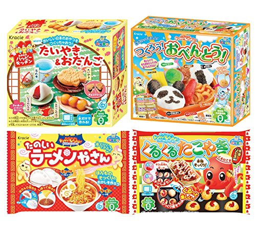 KRACIE POPIN COOKIN KITS - Japanese Sweets, Bento, Ramen & Takoyaki by Kracie