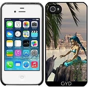 Funda para Iphone 4/4S - Sirena Y El Delfín by nicky2342