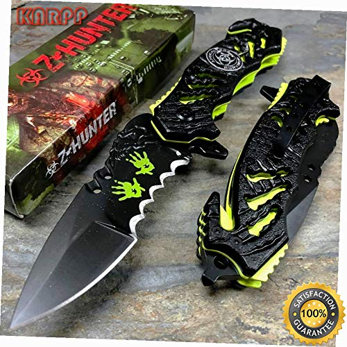 o Hazard Apocalypse Survivor Fantasy Pocket Knife - Outdoor Camping perfect For Hunting EDC EMT ()