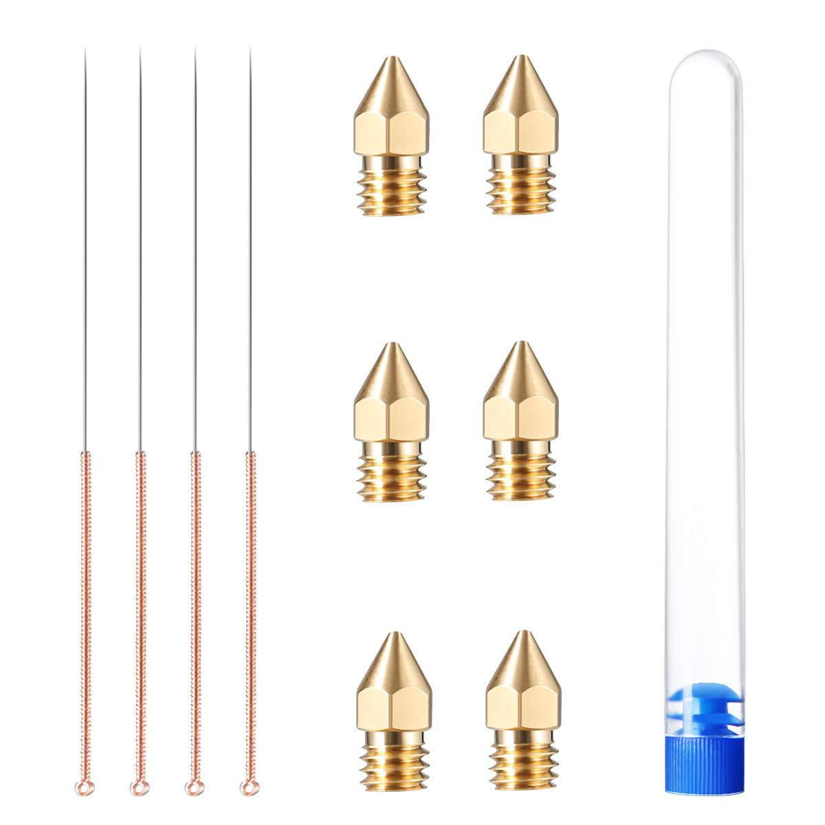 4pcs Aiguilles de Nettoyage pour Extrudeuse de T/ête dimpression 0.4mm DIGGRO Kit de Buse et Aiguilles de Nettoyage 6pcs Buse Imprimante Diametre 0.4mm pour toutes les imprimantes 3D de Pla 1.75mm