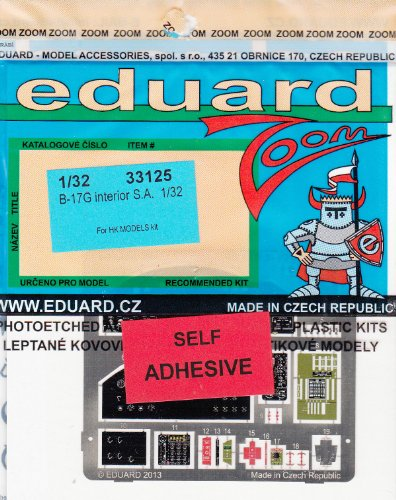 EDU33125 1:32 Eduard Color Zoom PE - B-17G Flying Fortress Interior (for the HK Model model kit) MODEL KIT ACCESSORY