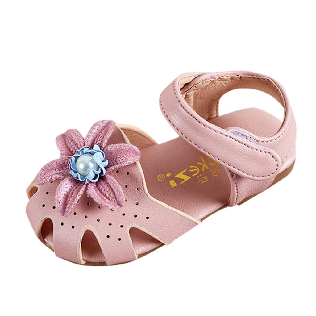 Anxinke Baby Girls Spring Summer Casual Flower Hollowed-Out Princess Sandals