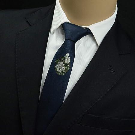 YiCan Tipo De Flor Bordada Hombres Británicos Formal Negocios/Ocio ...