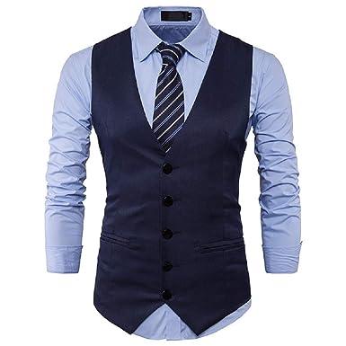 Traje de Chaqueta para Hombre Moda clásico Chaleco Slim Fit ...
