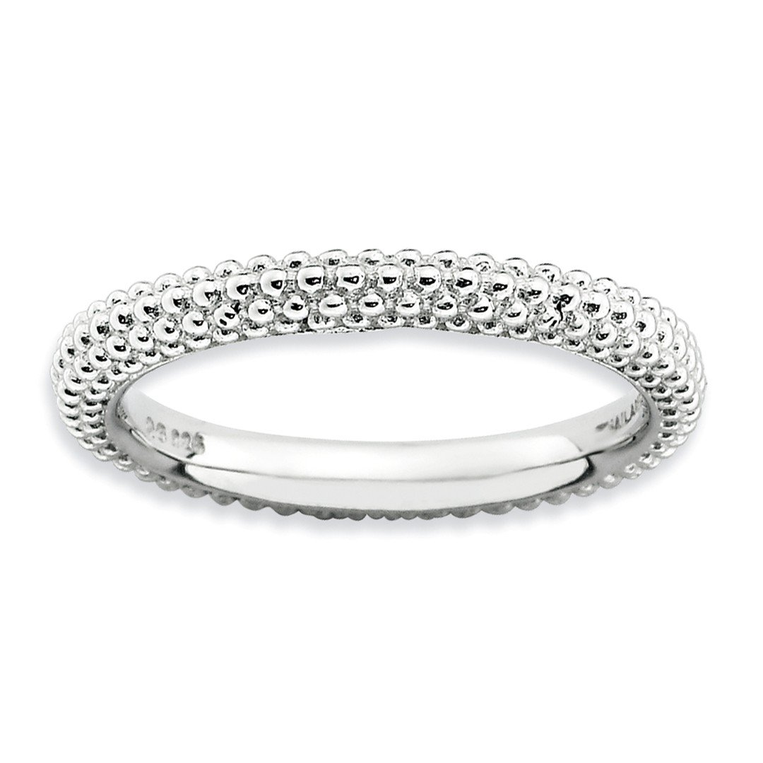 ICE CARATS 925 Sterling Silver Domed Band Ring Size 7.00 Stackable Fine Jewelry Ideal Gifts For Women Gift Set From Heart