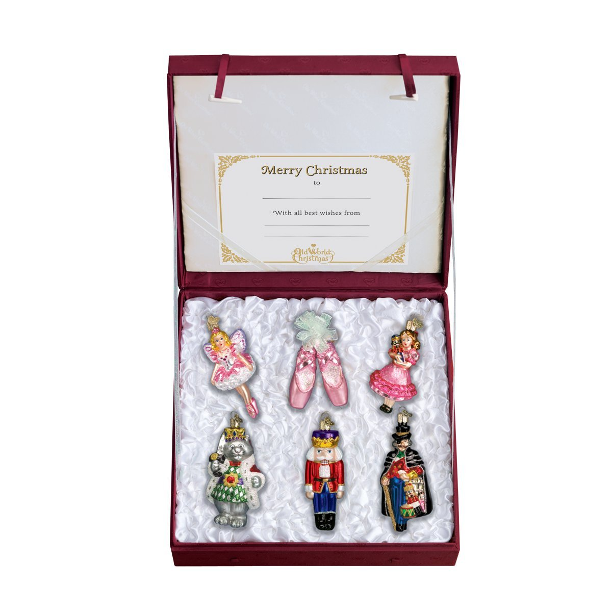 Old World Christmas Ornaments: Nutcracker Suite Collection Glass Blown Ornaments for Christmas Tree