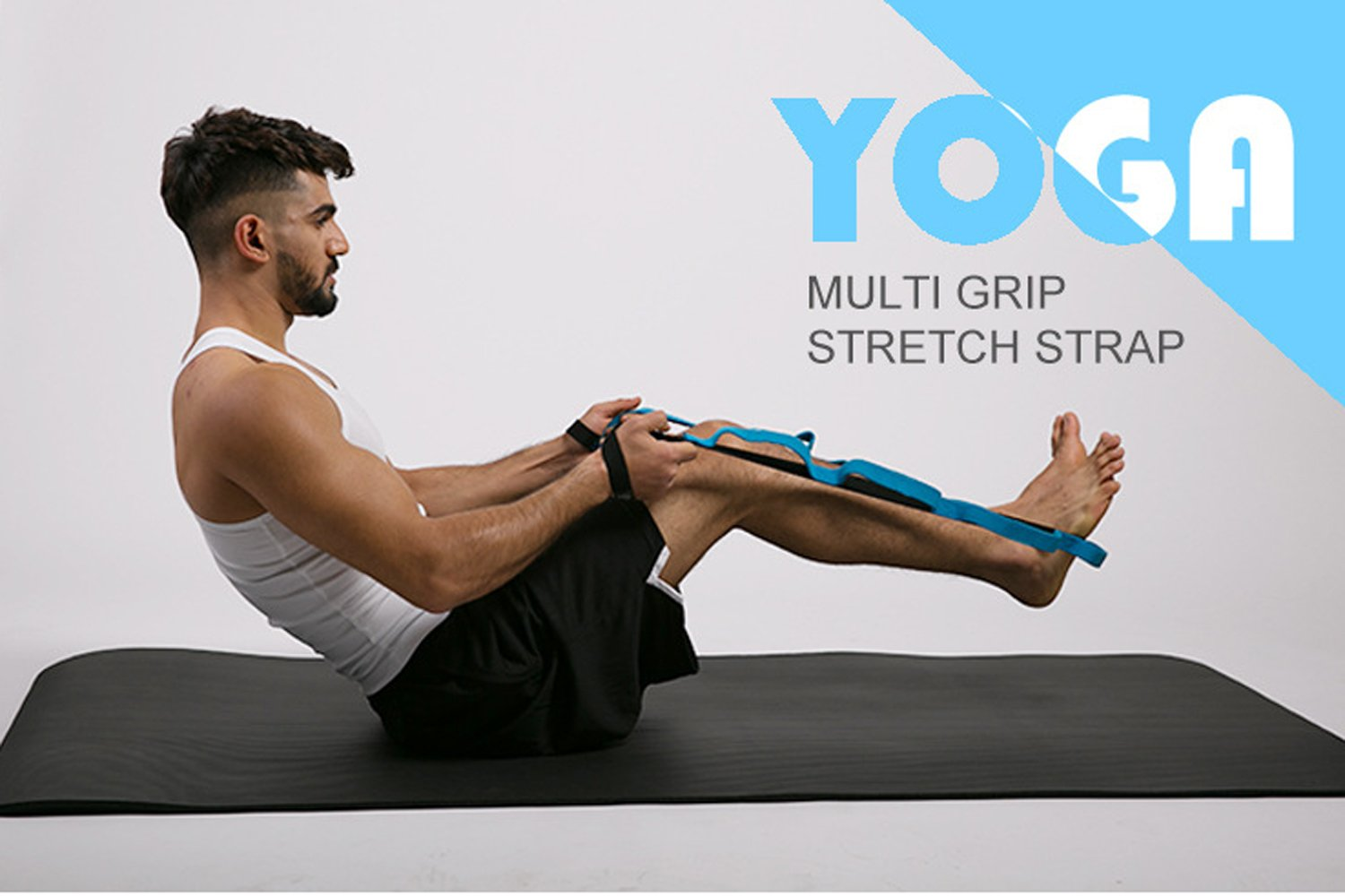 Micogo Yoga Stretch Band with 10 Loops to Improve Flexibiliy,Exercise & Physical Therapy Belt for Pilates,Dance & Gymnastics