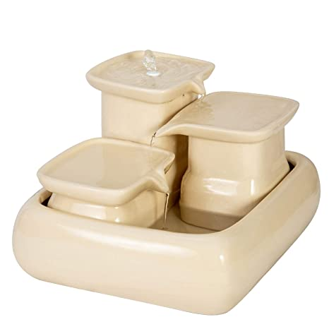 Miaustore Fuente de Agua de cerámica para Gatos 8 áreas para Beber ...