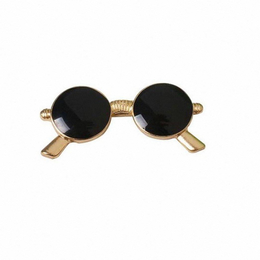 Kalapure Girls Fashion Sunglasses Super Dark Lens Lapel Pin Brooch